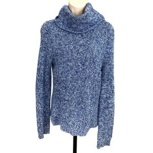 American Eagle Blue & White Turtleneck Knitted